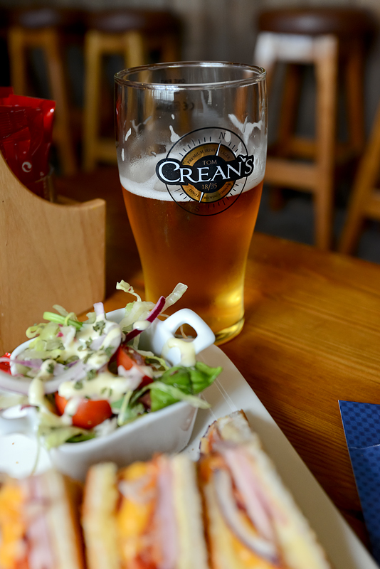 A proper lunch at the South Pole Inn along with a pint of Crean's Lager (brewed in the town of Dingle, a bit further down the road).