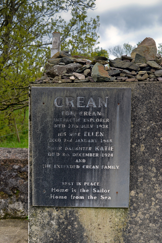 The Crean family tomb in Ballynacourty. Home Is The Sailor, Home From The Sea.