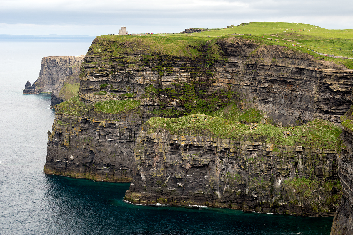 The tremendous Cliffs of Moher. At this location they rise 700 feet out of the sea.