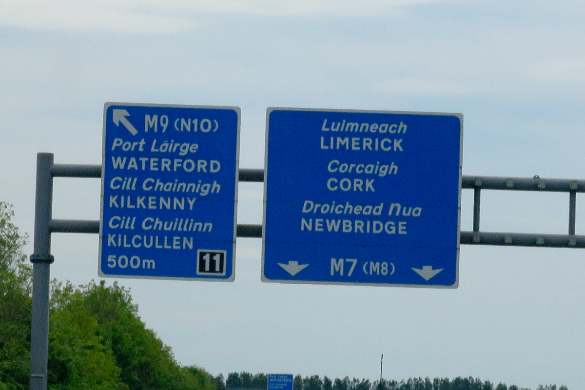 Stay right towards Limerick…