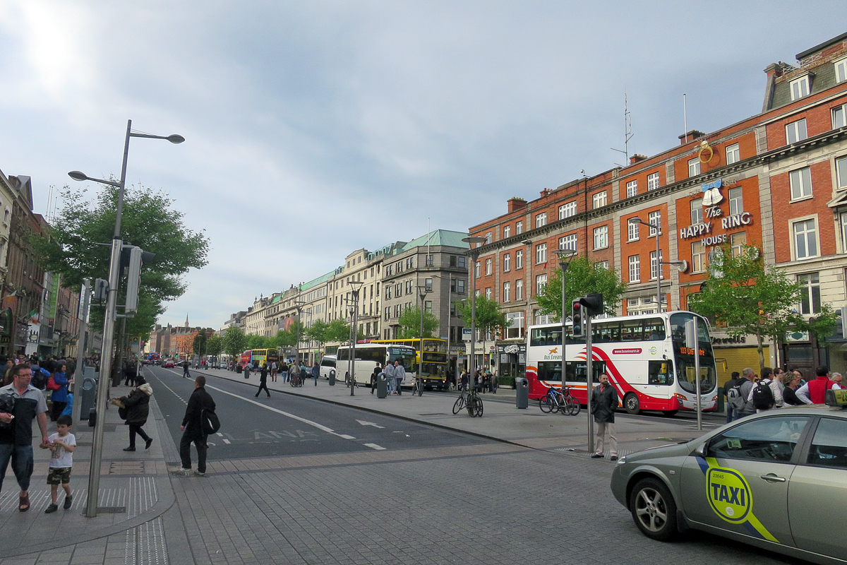O'Connell Street in central Dublin.