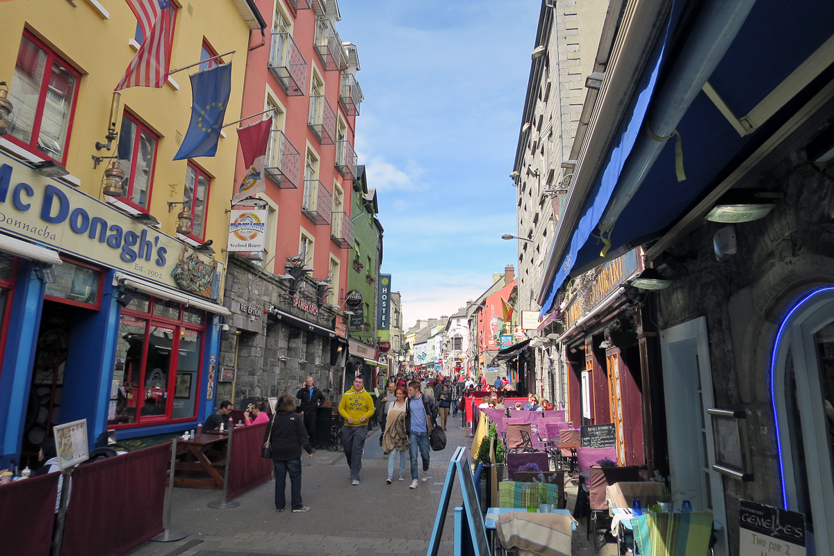High Street in Galway…