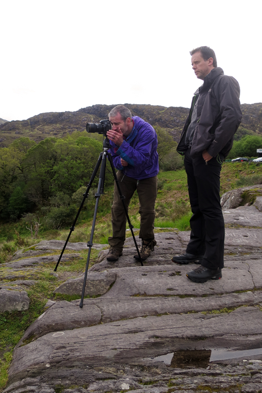 Norman McCloskey and me, checking composition at Ladies View.