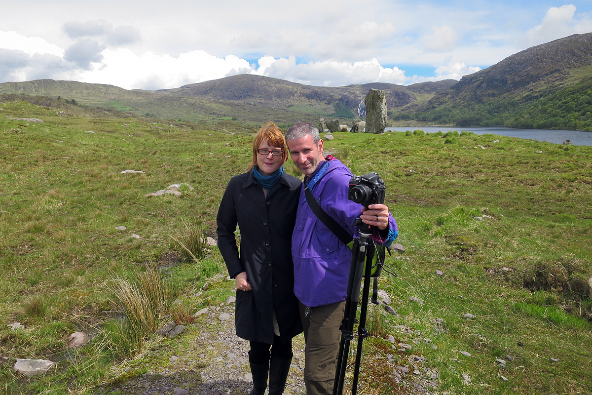 Kris and me in Gleninchaquin Valley near Lough Inchiquin, County Kerry.