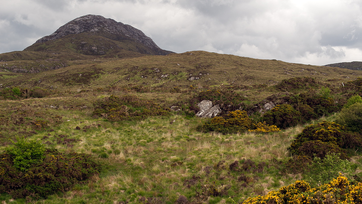 Diamond Hill in the Connemara. Our plan is to climb to the top!