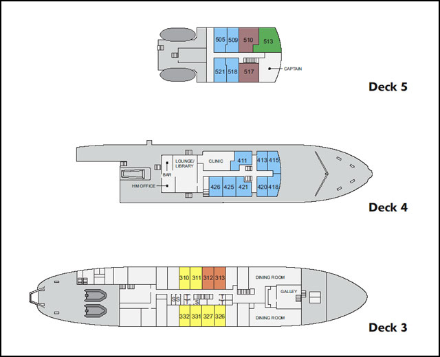 The ship's deck plan. I'm in Cabin 313.