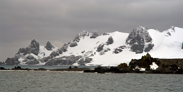 Our last glimpse of Half Moon Island before entering the Bransfield Strait en route to Deception Island.