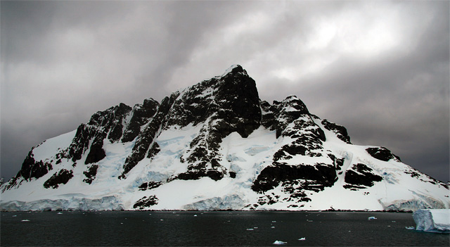 Wandel Peak on Booth Island. Despite rising just 3200 feet, it is considered one of the most challenging climbs on the Antarctic Peninsula. (The peak remained unclimbed until 2010, despite many attempts.)