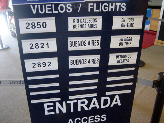 Flight 2892 to Buenos Aires is delayed but I'm able to board flight 2821.