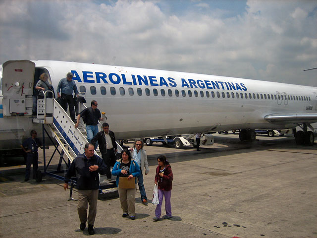 Landing in Buenos Aires. The heat and humidity is stifling.